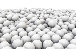 Golf balls pile. 3D render of piled golf balls Stock Photography
