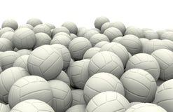 White soccer balls pile Royalty Free Stock Image