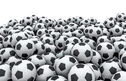 Soccer balls pile Stock Image