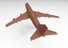 3D render plane. 3D render air plane isolate royalty free illustration