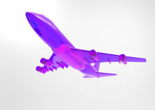 3D render plane Stock Images