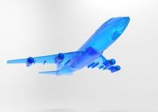 3D render plane Royalty Free Stock Photo