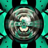 3D render plastic background elegant tile. 3D render of plastic background tile with abstract colorful pattern symmetry and glossy button stock illustration