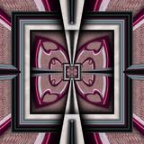 3D render plastic luxus background tile. 3D render of plastic background tile with embossed luxus abstract pattern Stock Photo