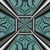 3D render plastic luxus background tile. 3D render of plastic background tile with embossed luxus abstract pattern Royalty Free Stock Images