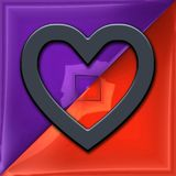 3D render of glossy heart symbol Royalty Free Stock Image