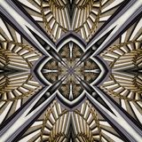 3D render plastic luxus background tile. 3D render of plastic background tile with embossed luxus abstract pattern Stock Photography