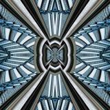 3D render plastic luxus background tile. 3D render of plastic background tile with embossed luxus abstract pattern on canvas Stock Image