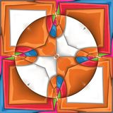3D render plastic puffs background tile. 3D render of plastic puffs background tile with embossed abstract ornament Stock Images
