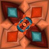 3D render plastic puffs background tile. 3D render of plastic puffs background tile with embossed abstract ornament Stock Image