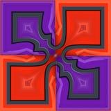 3D render plastic puffs background tile. 3D render of plastic puffs background tile with embossed abstract ornament Stock Photos