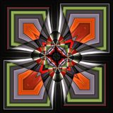 3D render plastic puffs background tile. 3D render of plastic puffs background tile with embossed abstract ornament Stock Photo