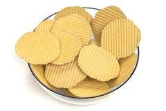 3D Render of Potato Chips. Realistic 3D Render of Potato Chips royalty free illustration