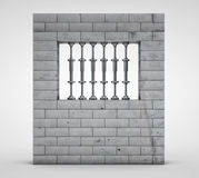 3d render of prison(jail) on a light background Stock Images