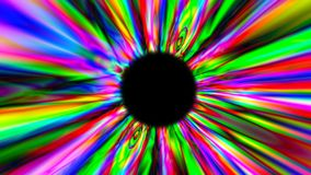 3d render psychedelic multicolor tunnel. Digital background stock video footage