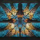 3D render of puff pixels fractal background Stock Image