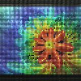 3D render of puff pixels fractal background Royalty Free Stock Photo