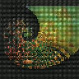 3D render of puff pixels fractal background Royalty Free Stock Photos