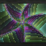 3D render of puff pixels fractal background Royalty Free Stock Photography