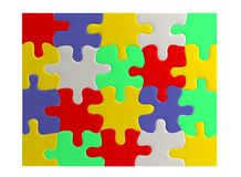 3d render of puzzle Royalty Free Stock Images