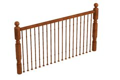3d render of railing Royalty Free Stock Photography