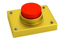 3d render of red button Royalty Free Stock Photo
