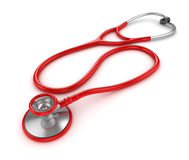 3d Render of Red Stethoscope Stock Photos