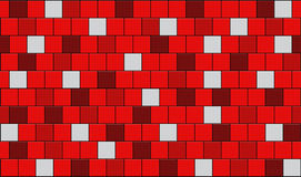 Tiles. 3d render of red tiles texture with black gap Royalty Free Stock Image
