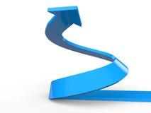 3D render of rising spiral arrow Stock Photo