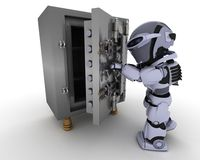 Robot with Stock Photography