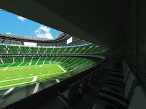 3D render of a round football stadium with green seats for hundred thousand people Royalty Free Stock Images