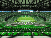 3D render of a round football stadium with green seats for hundred thousand people Stock Images