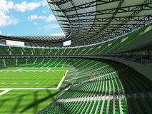 3D render of a round football stadium with green seats for hundred thousand people Stock Photography