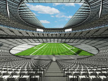 3D render of a round football stadium with white seats for hundred thousand fans Stock Photography