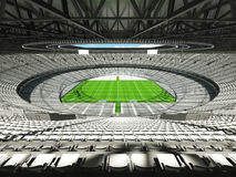 3D render of a round rugby stadium with  white seats and VIP boxes Stock Photography