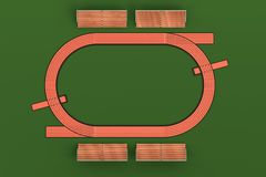 3d render of running track Stock Images