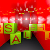 3d render sale box Stock Photo