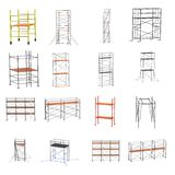 3d render of scaffolding set Royalty Free Stock Images