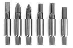 3d render of screwdriver tops. Realistic 3d render of screwdriver tops Stock Photography