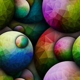 3D render seamless ball pattern background tile Stock Photo