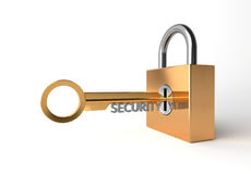 3D render Security key concept Royalty Free Stock Photos