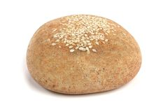 3D Render of Sesame Roll. Realistic 3D Render of Sesame Roll Royalty Free Stock Image