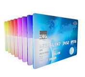 3d render of set of differnt credit cards Royalty Free Stock Image