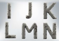 3D Render Set of a Masonry, Brick Alphabet stock image