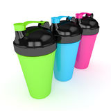 3d render of shakers isolated over white Stock Photos