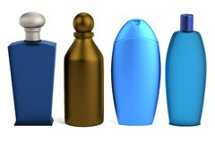 3d render of shampoos Royalty Free Stock Images
