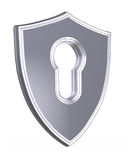 3d render shield Stock Photo