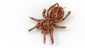 3d render of shiny luxury crystal sapphire tarantulawith edges Stock Image