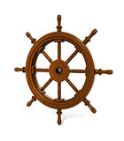 3d render of ship steering wheel  on white background Stock Photo