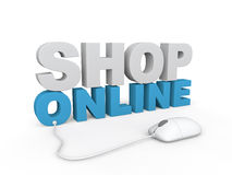 3d render of shop online concept Royalty Free Stock Image
